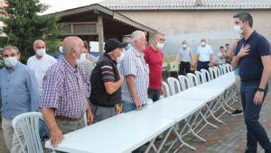 Başkan Gökhan Yüksel'den Ali Baba Sultan Cemevi'ne Geçmiş Olsun Ziyareti