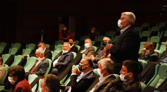 Alpa Muhtarları Başkan Büyükerşen ile Görüştü