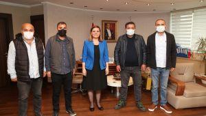 Baldur işçilerinden Hürriyet'e teşekkür ziyareti
