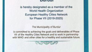 Burdur Belediyesi DSÖ Avrupa Sağlıklı Kentler Ağı