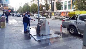 Kırşehir Belediyesi Yerkon Temizlik ve İlaçlama Çalışması Aralıksız Sürüyor