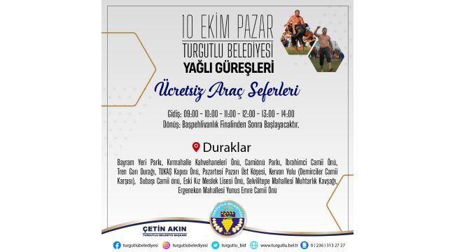 Turgutlu Belediyesinden Yağlı Güreşlere Ücretsiz Servis