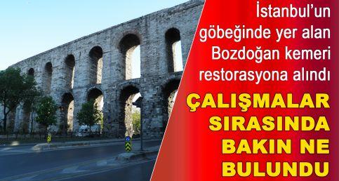 İstanbul'un göbeğinde tarihi keşif: Kemer restorasyonu sırasında bulundu...